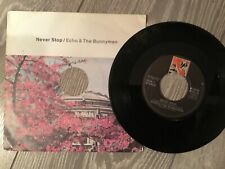 RECORD SINGLE 45 ECHO AND THE BUNNYMEN NEVER STOP / HEADS WILL ROLL