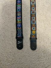 3 Planet Waves colorful guitar straps one Pat Metheny 1 black strap