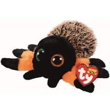 "Ty Beanie Baby Boos 6"" Halloween Hairy the Orange Spider Boo Plush w/ Heart Tags"