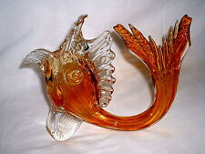 Murano Glasfisch farbig Höhe 27 cm um 1950/60 er Jahre