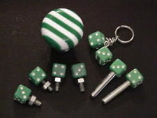 GREEN LAMINATED SHIFTER ,2 DICE TAG BOLTS 1-DOOR LOCKS,KEY CHAIN-COMB SET $36.00