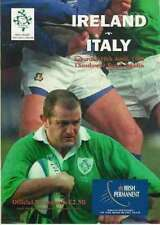 IRELAND v ITALY 1999 RUGBY PROGRAMME