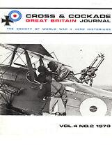 CROSS & COCKADE Great Britain Journal Vol 4 No 2 World War 1 1973