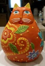CUSTOM MADE TO ORDER - FLOWER POWER KITTY - LAUREL BURCH CAT CEMENT STATUE