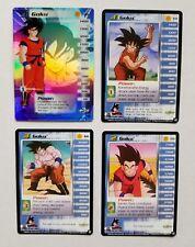 DBZ CCG Goku Lvl 1-3, HT Personality Set Saiyan Saga LIMITED+1-29, 34 and 38 Set