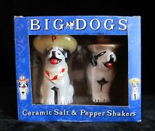 Big Dog Clothing Company Sportsware Advertising Salt & Pepper Shakers New In Box