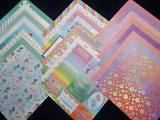 12X12 Scrapbook Paper Cardstock Rainbows Unicorns Mermaids Magical Dreams 24 lot