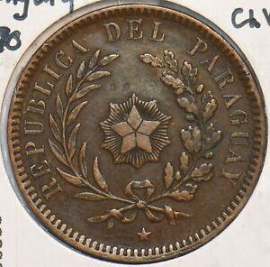 Paraguay 1870 2 Centesimos 296883 combine shipping
