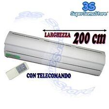 3S BARRIERA LAMA D'ARIA ELETTRICA cm 200 CON TELECOMANDO IN METALLO 220v NUOVA