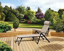 Zero Gravity Garden Sun Lounger Recliner Folding Chair Outdoor Beach Seat Patio