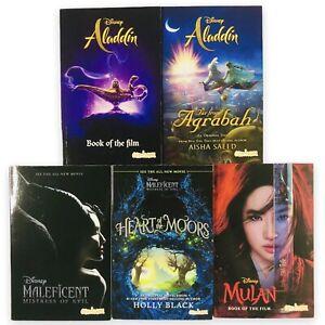 5 x DISNEY Maleficent, Aladdin, Mulan Books Bundle - FAST FREE P&P