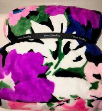Vera Bradley ** FLOWER GARDEN ** Fleece Super Soft Throw Blanket NWT
