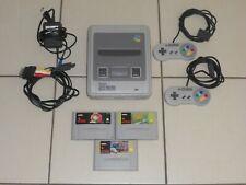 Console SUPER NINTENDO SNES avec 2 Manettes + 3 Jeux Street Fighter + NBA JAM