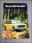 1972 Morris 1300 Traveller Original Vintage Car Sales Brochure Folder