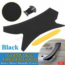 LH Leather Inner Door Handle Cover Sewing For BMW 3 Series E90 E91 E92 E93 05-12