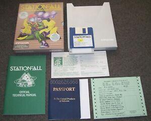 Atari 520 1040 ST STFM STE Mega Computer Game Stationfall Infocom BOXED & Badge