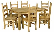 Corona Dining Set 6ft Dining Table with 6 Chairs