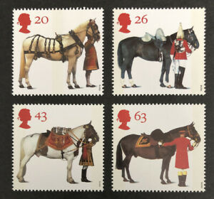 GB 1997 MNH STAMP SET All the Queen's Horses SG 1989-1992 UMM
