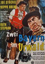 ZWEI BAYERN IM URWALD Beppo Brem Joe Stöckel WA-Filmplakat A1 GEROLLT 70er Jahre