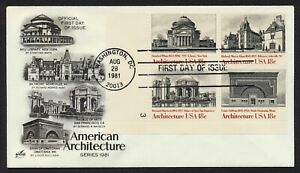 #1931a 18c American Architecture-PB 3 LL, Art Craft FDC ANY 5=
