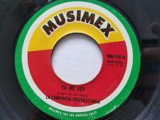 LA COMPARSA UNIVERSITARIA - Ya Me Voy / Si Te Vas MUSIMEX Ranchera 1970's LATIN