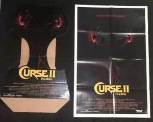 CURSE II THE BITE (1989) Vintage Horror Movie Standee & One Sheet Poster