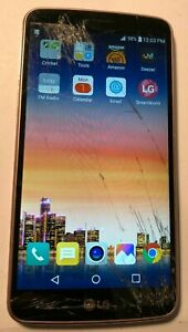 LG Stylo 3 16GB Rose Gold (Cricket) M430 Parts Repair Cracked Glass Fast Ship