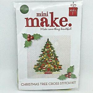 Mini Christmas Cross Stitch Kit Xmas Tree Supporting Creative Mental Health