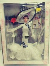 1995 Barbie Doll Audrey Hepburn Eliza Doolittle My Fair Lady Ascot Lace Gown
