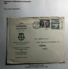 1955 Livingston N Rhodesia First Day cover To Canada Centenary Of Discovery