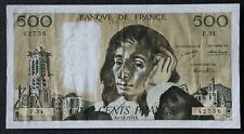 France - Francia - Billet de 500 Francs Pascal du 6/12/1973