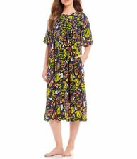 8b5382f8ee8 Go Softly Patio Butterfly-Print Crinkled Button-Front Patio Dress Size S