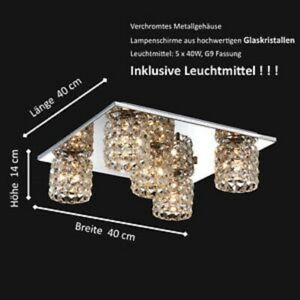 Deckenlampe Lampe Leuchte Kristall Glas Chrom LED  Flur Küche Esstisch Zimmer