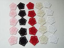 5pcs - Embroidery, Guipure Lace Flower Motif - Applique,Wedding, Patch - 4cm