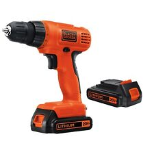 20-Volt Lithium Ion Compact Cordless Drill with 2 Batteries 11 Position Clutch
