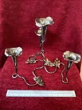 More details for art nouveau silver plated leaf epergne