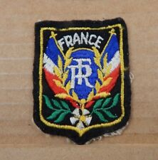 Vintage French Tourist Patch Badge France Flags Flowers 6cm x 4.5 cm