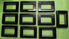 10 PLACCHE BTICINO LIVING CLASSIC 3 POSTI COLORE NERO COD. 4713NR