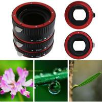 Pro Auto Focus AF Macro Extension Tube/Ring Mount Red for CANON EOS EF-S Lens