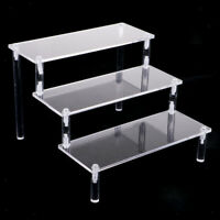 Acrylic Cosmetics Showcase Action Figures Dolls Toys Display Holder 3-Tier