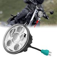 5,75 pouces LED Phare rond de moto Lampe frontale Headlamp Universel Pour Moto