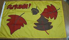 "AUTUMN Leaves & Acorn HUGE Decorative Flag / Banner 35"" x 58"""