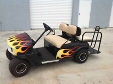 2000 Ezgo 4 passenger seat golf cart flip seat 36 volt electric flames lights