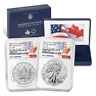2019 Pride of Two Nations 2pc. Set U.S. Set NGC PF70 FDI Flags Label W/OGP OGP74
