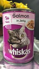 Whiskas 1+ Cat Food Tin Salmon in Jelly 12 x 390g Super Fast Delivery