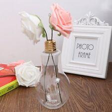 Light Bulb Shape Glass Hanging Vase Bottle Terrarium Container - Flower