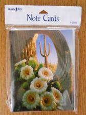 8 Leanin Tree Note Cards, Beautiful Desert Blooming Cactus, Saguaro