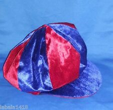 PONY EXPRESS ADULT RED & BLUE NEWSBOY STYLED COSTUME BAGGY CAP - ONE SIZE