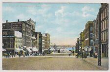 USA postcard - Foot of Woodward Avenue, Detroit, Mich