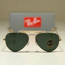 New Ray-Ban Outdoorsman Gold RB3030 L0216 58-14 Green Classic G15 lens